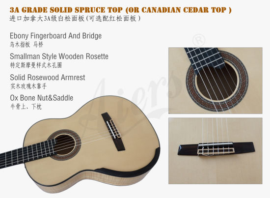 Chinese Factory Aiersi Smallman Classical Guitar (SC100S) pictures & photos