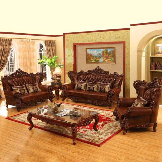 China Luxury Leather Sofa Set for Living Room Furniture (525 ...