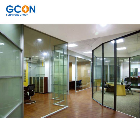 High Quality Wood And Glass Soundproof Office Partition Wall