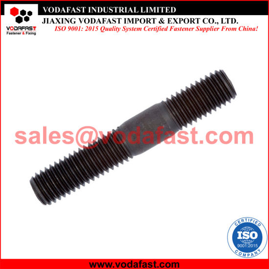 DIN 835 Stud with Threaded End Zinc Plated