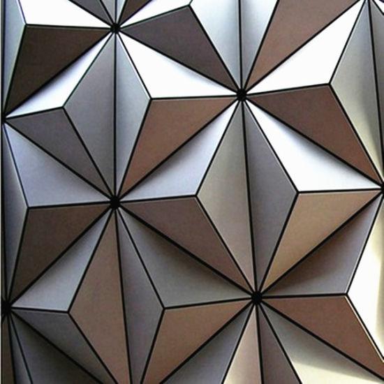 Laser Cut Aluminum Product 3D Aluminum Wall Panel for Project