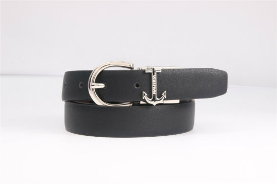 OEM Design Ladies Fashion PU Belts with Reversible Buckle pictures & photos