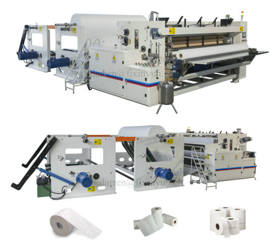 Maxi Roll and Small Toilet Paper Making Machine Production Line