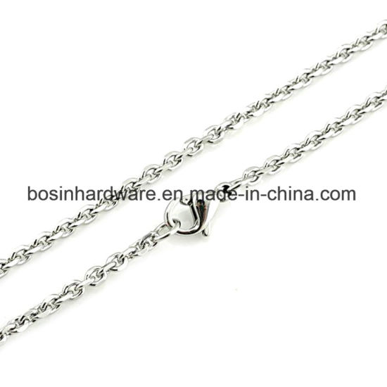 """18-24"""" Stainless Steel Cable Chain Necklace"""
