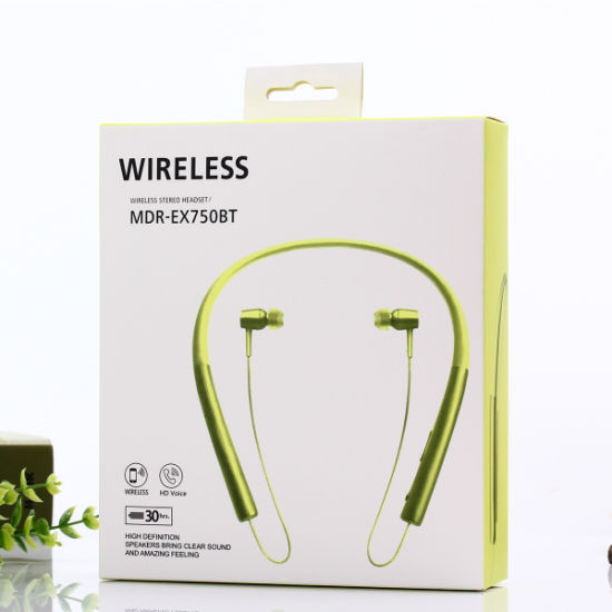 61f4d2e7412 Wireless Neckband Bluetooth Headset with Magnet for Sony Mdr-Ex750bt  pictures & photos
