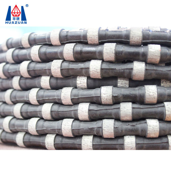 China Rubber Connection Diamond Wire Rope Saw for Stone