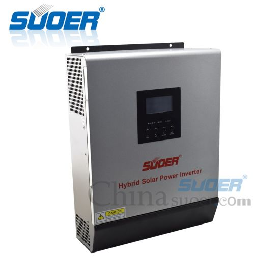 Suoer High Frequency 12VDC to 230VAC 50A PWM Invertor 3kVA Hybrid Solar Power Inverter for Home Use pictures & photos