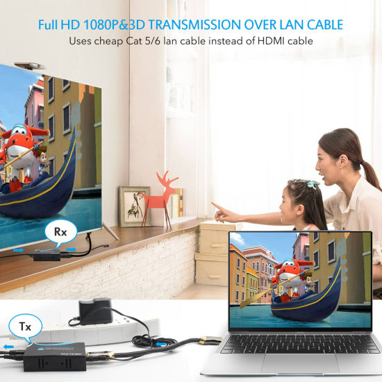 60m HDMI Extender Over Single Cat5e/6, HDMI V1.3 pictures & photos