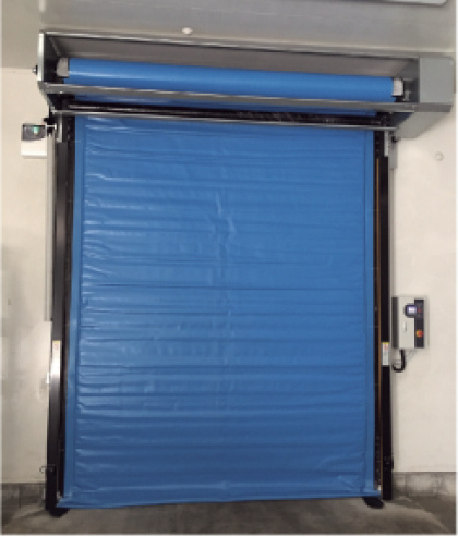 Industrial Automatic Thermal Insulated PVC Fabric Freezer Room High Speed Overhead Rolling Rapid Roll up Fast Acting Roller Shutter Doors for Cold Storage