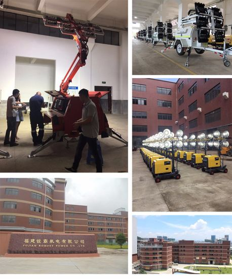 Low Consumption Hydraulic Light Tower with 4.5kw Generator Set pictures & photos