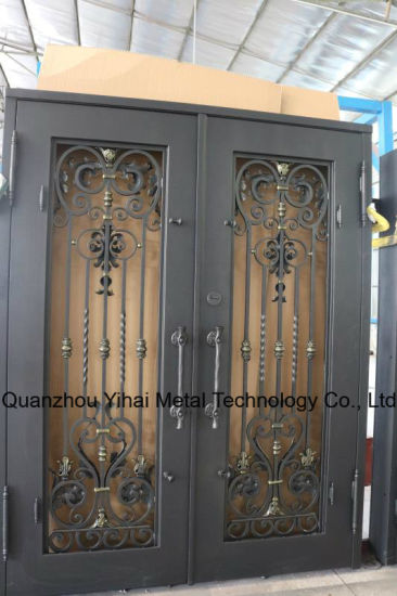 Hot Sale with High Quality Wrought Iron Double Door pictures & photos