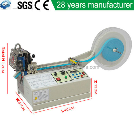 Automatic Hot and Cold Flocked Poly Ribbon Cutting Machine