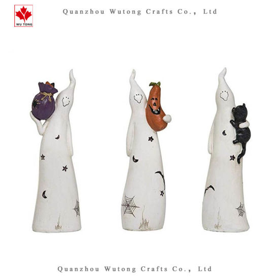 Cute Ghost White Resin Halloween Figurines