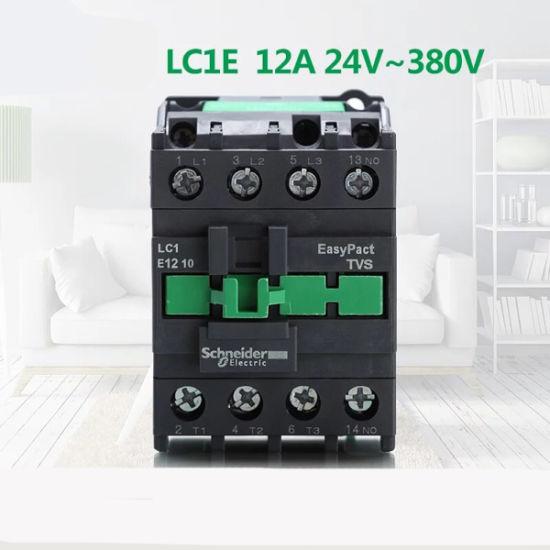 High Quality LC1e1201 3pole 12A 380V 1nc AC Contactor