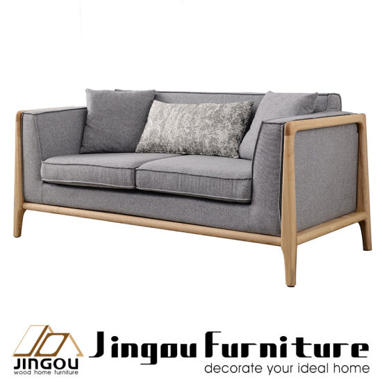 Furniture Wooden Frame Fabric Sofa Set