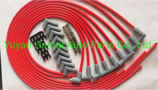 HIGH PERF CUT TO FIT SPARK PLUG IGNITION WIRE LEAD SET CHEVROLET V8 SBC 8MM RED