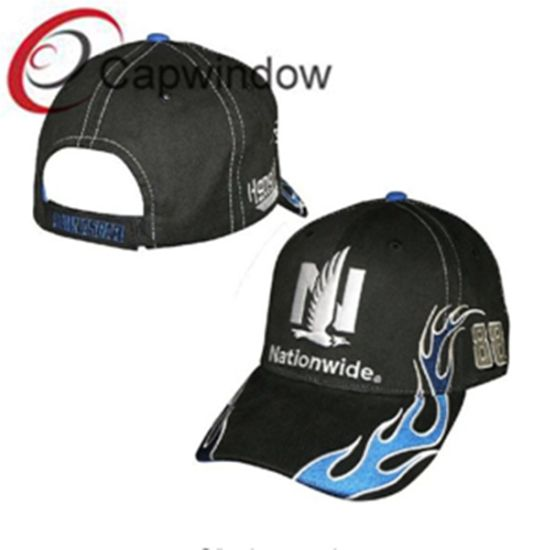 d02ca9bb Blue Flame Embroidery Promotional Fashion Sport Racing Baseball Cap  pictures & photos