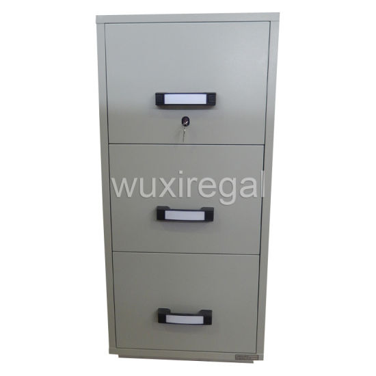 Metal Fire-Resistant Filing Cabinet, UL 2-Hour Fireproof Safe (UL824FRD-II-3001)