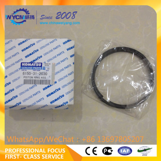 Komatsu Excavator Engine Parts 6D125 Piston Ring 6150-31-2030 6221-31-2200