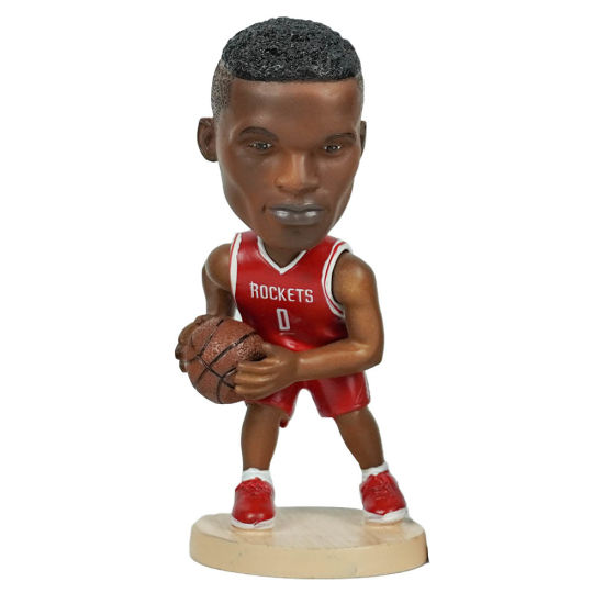 Wholesale 12 Cm Polyresin Famous NBA Superstar Baller Russell Westbrook Action Figure Car Dashboard Bobble Head