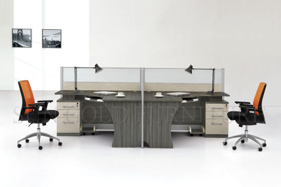 Modern New Design High End Workstation, Wooden Office Desk (SZ-WS117) pictures & photos