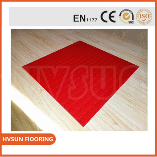 Recycled Natural Interlock Rubber Brick Floor Tile for Walkway, Shopping Mall, Airport, Hospital