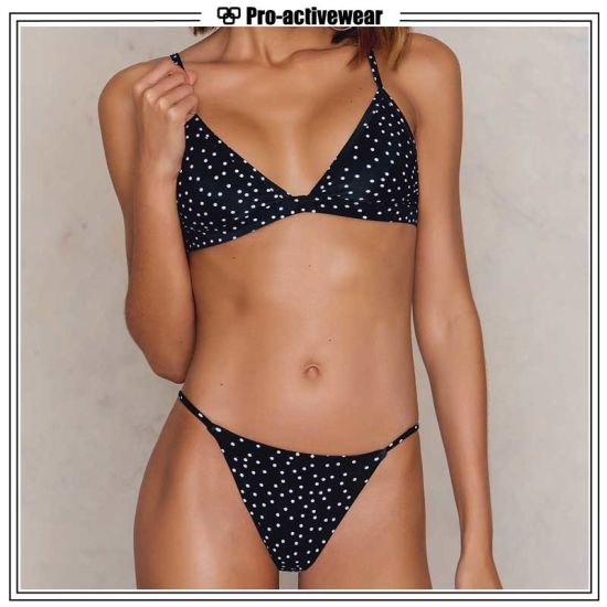 Wholesale Custom Swimwear Two Pieces Girls Plus Size Bikini pictures & photos