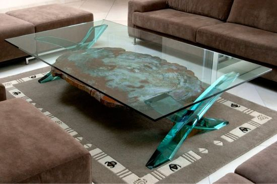 10mm Square Shape Table Top/Countertop Tempered Glass With Polished Edges