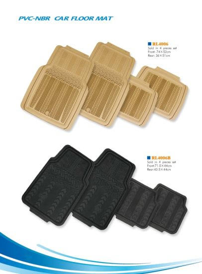 Rubber, PVC and Plastic Material Car Floor Mat