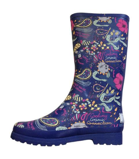 High Quality Printing Rain Boots for Girls