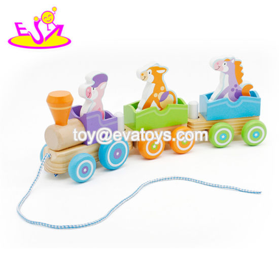 China Top Sale Transport Animals Wooden Busy Animal Train Toy For 1