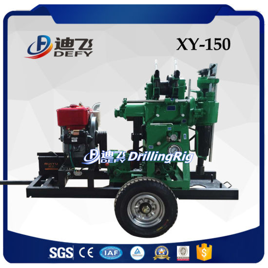 Xy-150 Portable Hydraulic Borehole Water Well Drilling Rig machinery