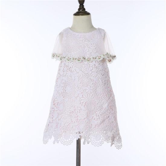 Kids Wear Dresses Children Wear Fashion Dress with Lace