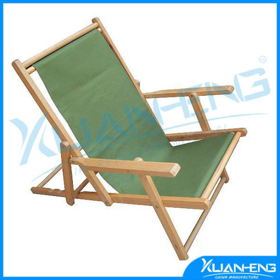 Wooden Deck Chair Beach Holiday Travel Folding 3 Positions Pictures Photos