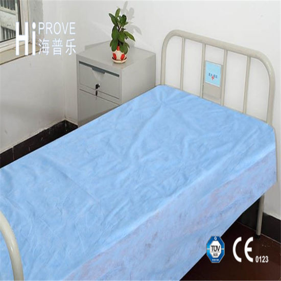 Non Woven PP/SMS Disposable Waterproof Bed Sheet For Hospital