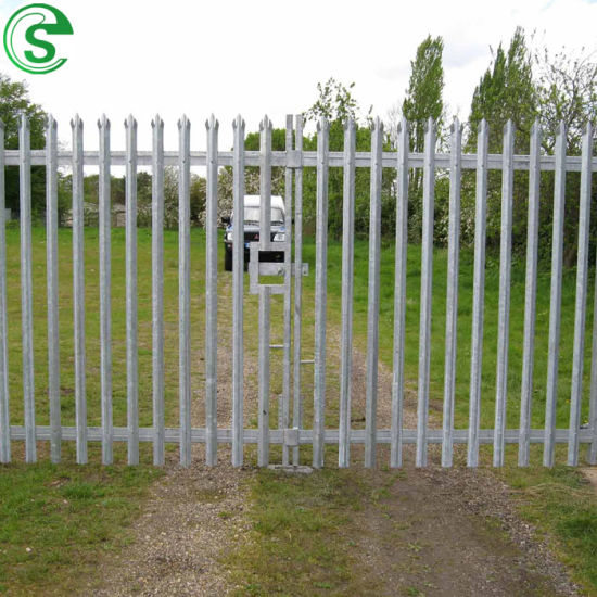 Hot Dipped Galvanized Steel Bar W Profile 6FT Palisade Fence