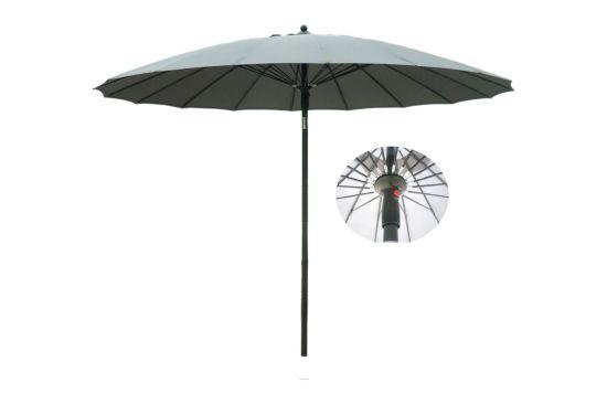 China Patio Umbrella Hand Push 10ft