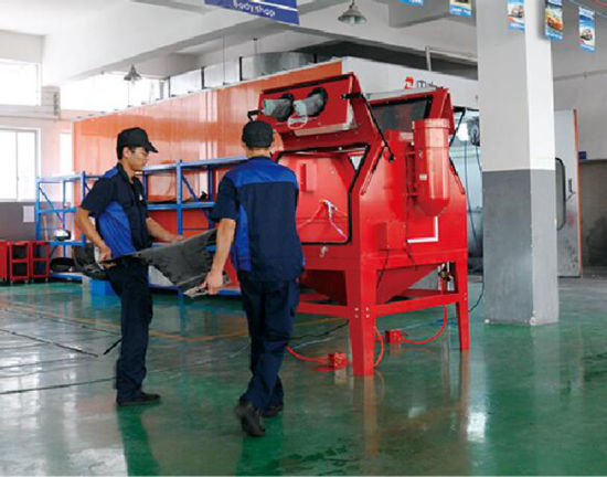 1200L Capacity with Double Doors Industrial Cabinet Sandblaster pictures & photos