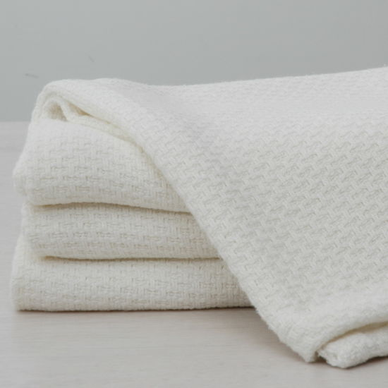 China Super Soft Bamboo Cotton Thermal Weave Throw Blanket
