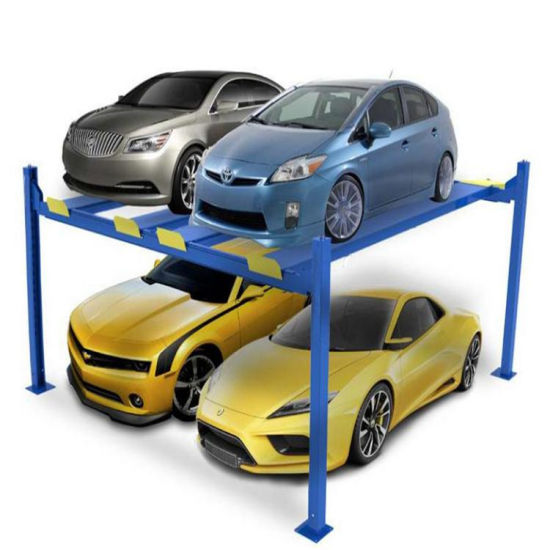 Four-Column Garage Lift with Four Parking Spaces Four Columns Parking Lift Parking Equipments with Electric Control Release