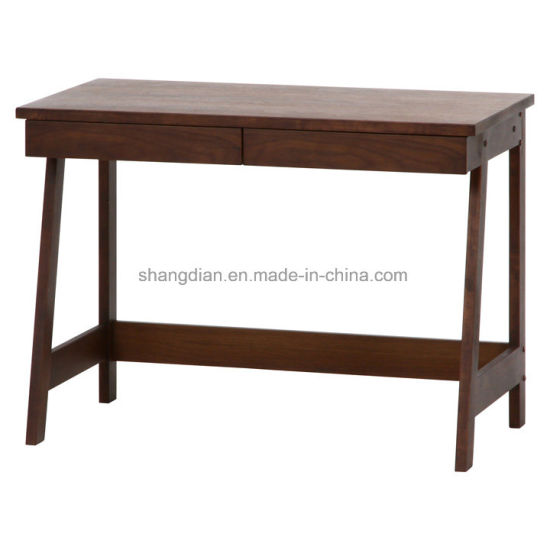 Wooden Legs Writing Desk With Drawers For Hotel Bedroom (ST0053)