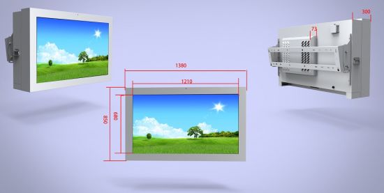 Wall Mounted Outdoor 10 Point Pcap Touch Screen Monitor pictures & photos