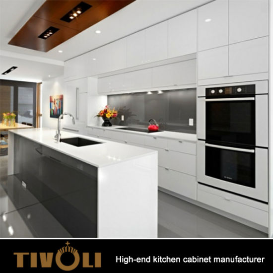 China Wholesale Luxury Style White Kitchen Cabinet Mix with Laminate ...