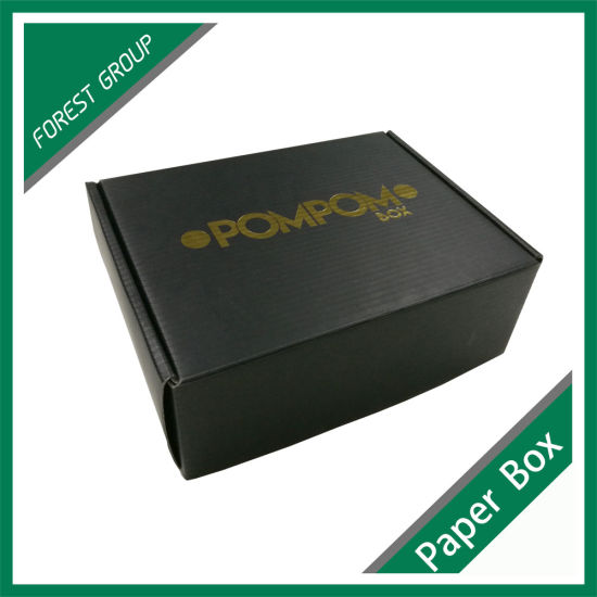 Full Matt Black Printing Box with Logo Foil