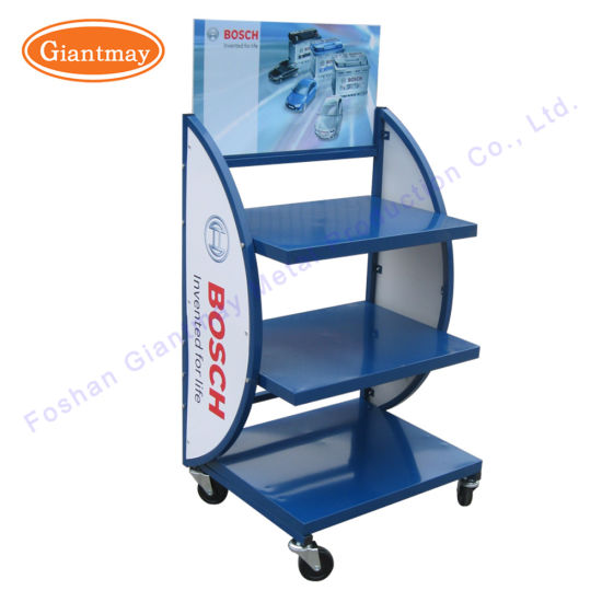 China 40 Tiers Metal Heavy Duty Car Battery Display Stand China New Car Battery Display Stands