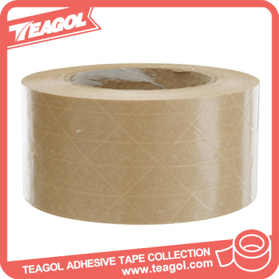 china strong adhesion self adhesive kraft paper reinforced tape