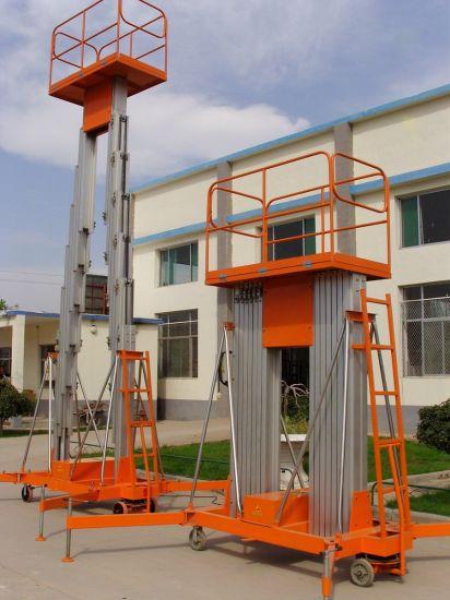 8m 10m 12m 14m Pair Mast Aluminum Lift Table Two Mast Lift Table Telescope Lift Platform Hydraulic Aerial Lift