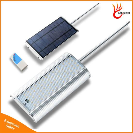 china 70 led radar motion sensor solar light solar garden light with