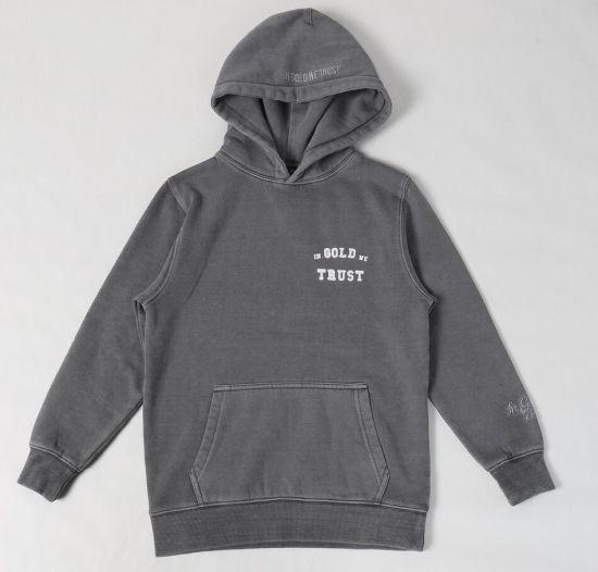 Wholesale New Collection Fashion Men's Garment Dye Hoody