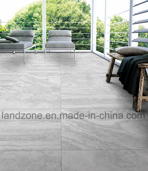 French Light Grey Travertine Marble Biltmore Porcelain Tile